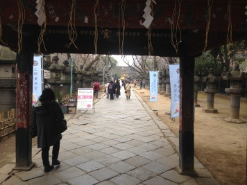 Approaching a temple, Ueno Park