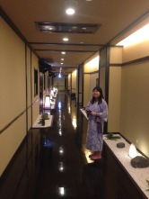 The inside of the onsen hotel