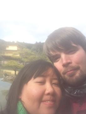 Kinkaku temple sloppy selfie
