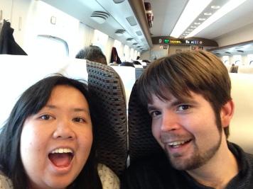 Shinkansen selfie