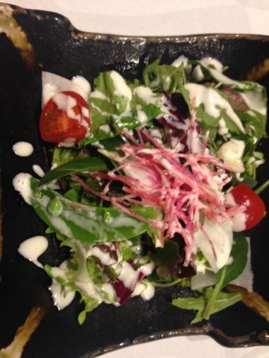 Salad, pre kobe steak