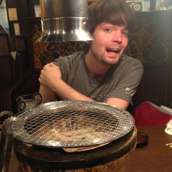 Celebratory yakiniku after Apt signing