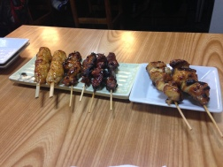 yakitori from a local place near our apt
