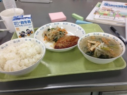 First served school lunch! Pretty tasty