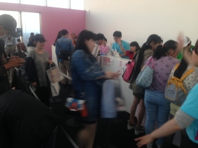 The line for the Sailormoon goods