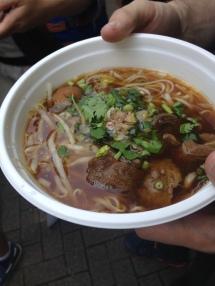 Beef noodle soup at the Thai festival!!