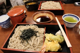 Soba and tempura