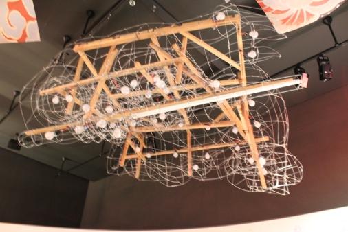 The inside of a Nebuta float