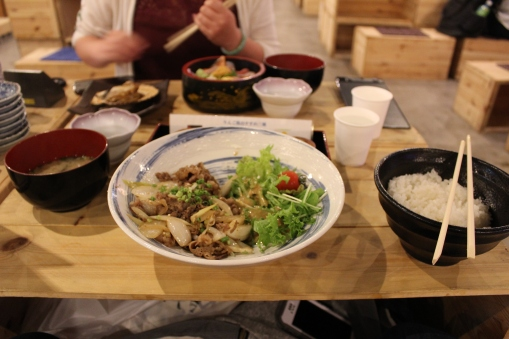 This beef bowl looks simple but it was actually really amazing meat!