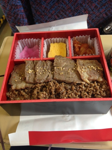 Train Bento at the Omiya Train Museum
