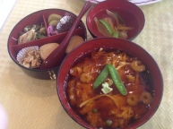 Meal with local specialty, yuba or tofu skin