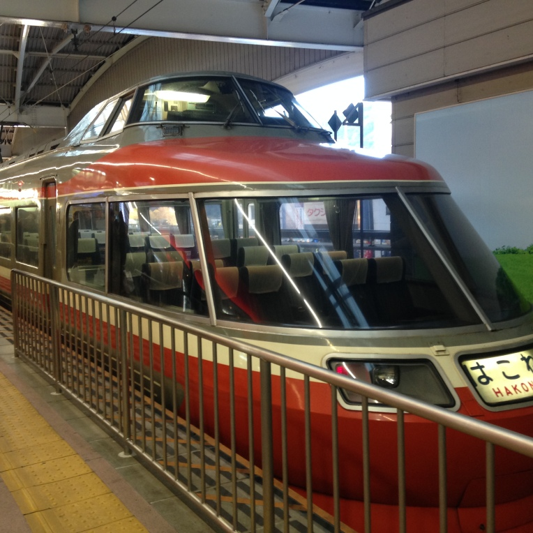 The old Hakone Romance train