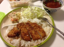 Our own homemade tonkatsu for comparison