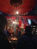 Amazake stand, a warm fermenty drink.