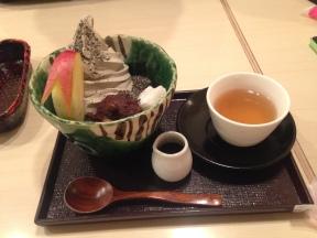 Anmitsu with sesame ice cream!