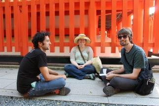 Fortune reading at Fushimi Inari