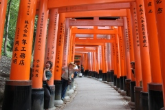 Found some ghosts between the torii