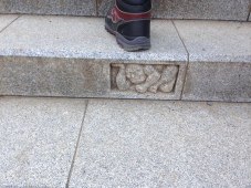 One of the steps toward the temple on peak