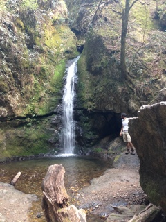 The waterfall we hiked down towards.