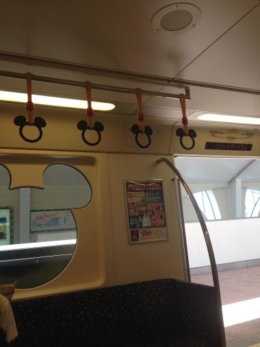 Disney monorail inside