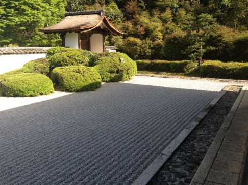 The Zen Garden of Shodenji Temple, David Bowie's favorite place in Kyoto.