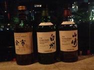 Whisky at a bar facing the Kamo River