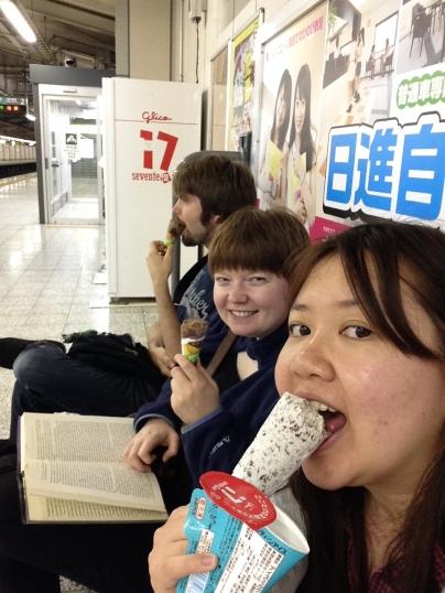 vending ice cream, post bath