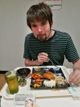 Zach enjoys the buffet