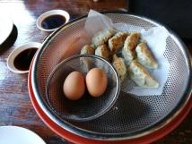 Dumplings and boiled egg