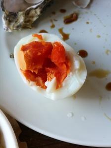 A steamed egg!