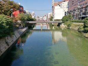 River going through Fukuoka
