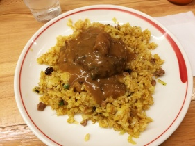 Hamburg Curry with Dry curry rice
