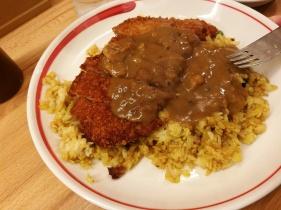 Tonkatsu with curry
